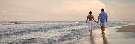 Strandwandeling samen maken