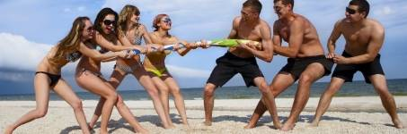 Sportief dagje uit op het strand