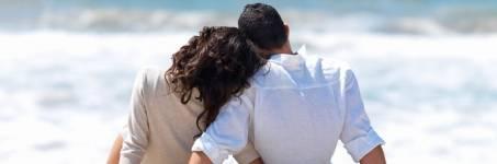 Romantisch genieten aan het strand