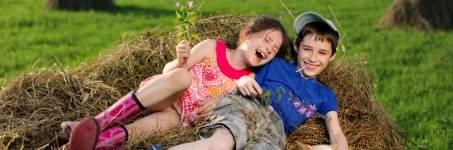 Kinderuitjes op de boerderij