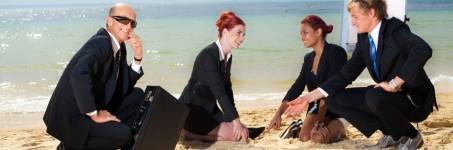 Vergaderen aan de kust