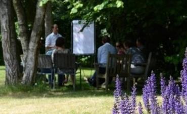 Vergaderen op een landgoed in midden Nederland