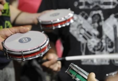 Percussie workshop op locatie