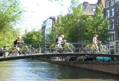 Op de fiets door Amsterdam