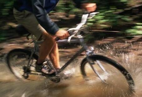 Mountainbike tocht met gids terug met GPS.