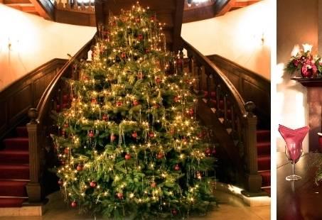 Kerstarrangement bij een Kasteel op de Veluwe