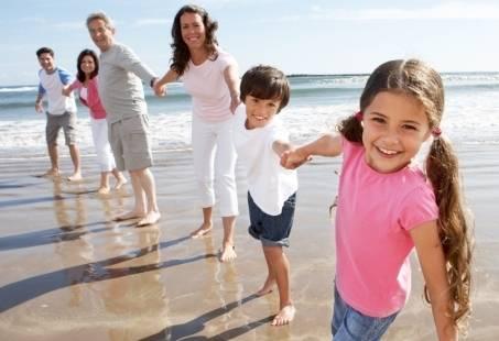 Met familie lekker naar het strand