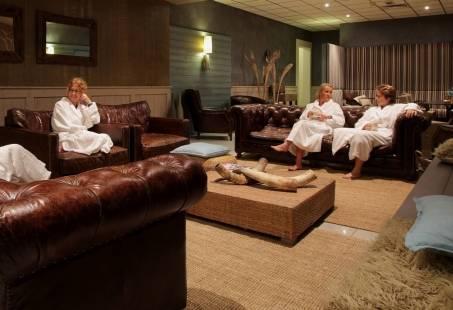 Lounge ruimte bij het wellness center