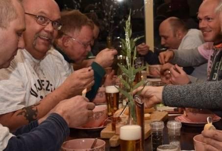 Lekker eten met de mannen