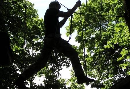 Super leuk om te klimmen in een klimbos