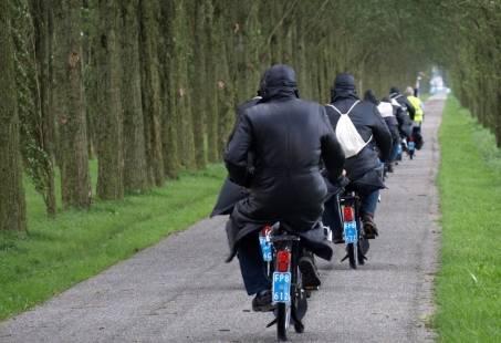 Stoer groepsuitje op wielen in Overijssel