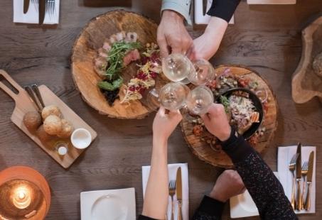 Culinair diner arrangement in een paviljoen hotel op de Veluwe