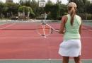 Tennisbaan bij het vakantiepark