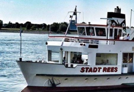 2 uur durende rondvaart over de Nederrijn met vertrek vanuit Rees