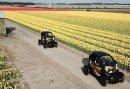 Toeren met de Renault Twizy door de tulpenvelden