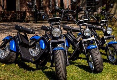 E-Chopper rijden door de Achterhoek - Samen er op uit met stille scooters