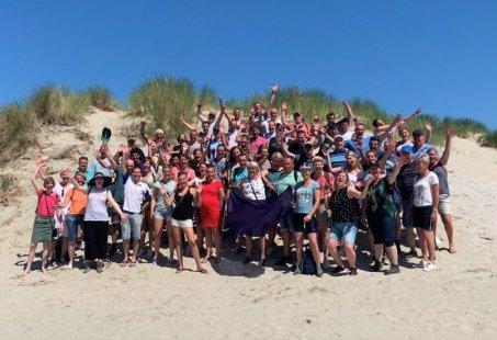 Teambuilding in Zandvoort-Beachgames op het strand en Spannende City Challenge